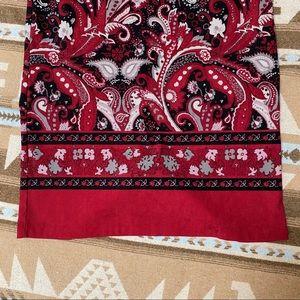 Christopher & Banks Skirts - 💥5/$20💥 Black & Red floral skirt